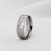 Alianças Alice 288CP em Aço Inox 5mm (Feminina)