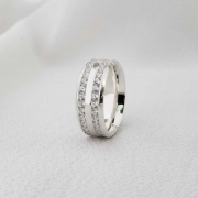Aliança Siena em Prata 8mm (Feminina)