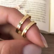 Alianças Florence 3mm em Ouro 18k (Par)