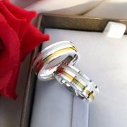 Alianças Genevive com Aplique de Ouro em Prata 6mm (Par)