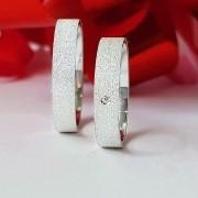 Alianças Glitter em Prata com Pedra 4mm (Par)