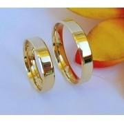 Alianças Heloisa em Ouro 18k 5mm (Par)