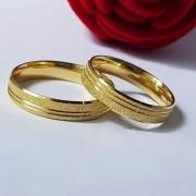 Alianças Heloisa em Ouro 18k Diamantadas 5mm (Par)