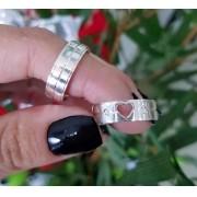 Alianças In Love em Prata 6mm (Par)