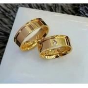 Alianças Jade em Ouro 18K 6mm (Par)