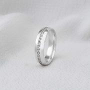 Alianças Milão em Prata 5mm (Feminina)