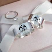 Alianças Precious Love em Prata 7mm (Par)