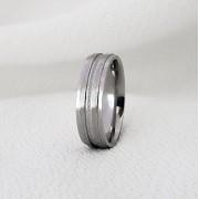 Aliança Sofia 237 em Aço Inox 6mm (Masculina)