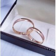 Alianças Tradicionais em Ouro Rosé 18k 3mm (Par)