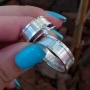 Alianças Trindade em Prata 7mm (Par)