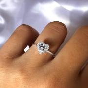 Anel Cinderela Cristal em Prata 5797A