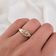 Anel Formatura em Ouro 18k com Cristal Amarelo