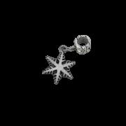 Berloque Floco de Neve em Prata 925