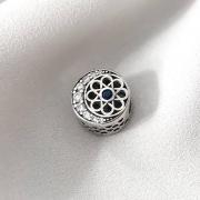 Berloque Separador Mandala em Prata 925