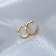 Brinco Argolinha Click 7mm em Ouro 18k