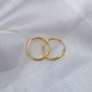 Brinco Argolinha Média Click 13mm em Ouro 18k