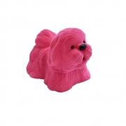 Caixinha Cachorro em Veludo Rosa (Anel)