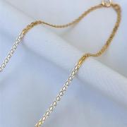 Corrente Esteira em Ouro 18K 45cm