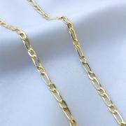 Corrente Fígaro Médio em Ouro 18K 60cm