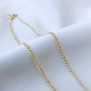 Corrente Groumet Fino em Ouro 18K 40cm