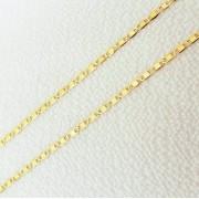Corrente Piastrine em Ouro 18k 45cm