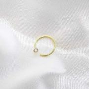 Piercing Bolinha Cristal em Ouro 18K