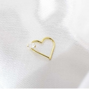 Piercing Coração em Ouro 18k
