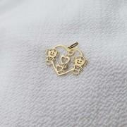 Pingente Coração e Meninas em Ouro 18K