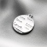 Pingente Love em Prata 925 Redondo