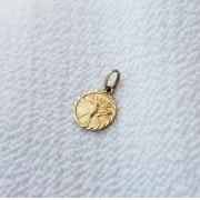 Pingente Medalha Espirito Santo em Ouro 18K