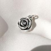 Pingente Rosa em Prata 925
