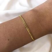 Pulseira Groumet em Ouro 18K 14cm