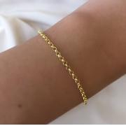 Pulseira Elo Português Médio em Ouro 18K 19cm