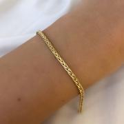 Pulseira Malha em Ouro 18K 18cm