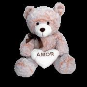 Ursinho De Pelúcia Amor com Coração Branco G