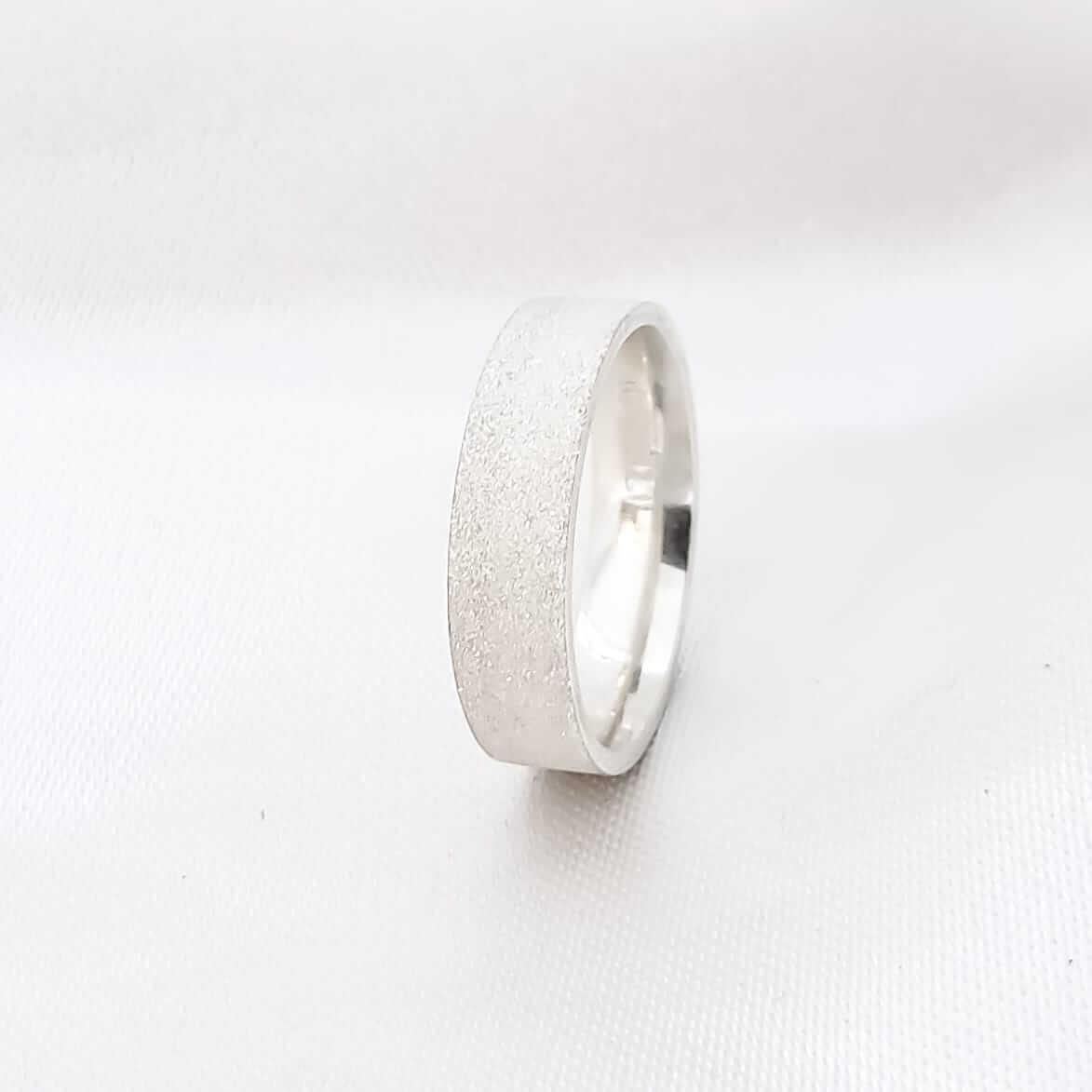 Aliança Glitter em Prata 5mm (Feminina)