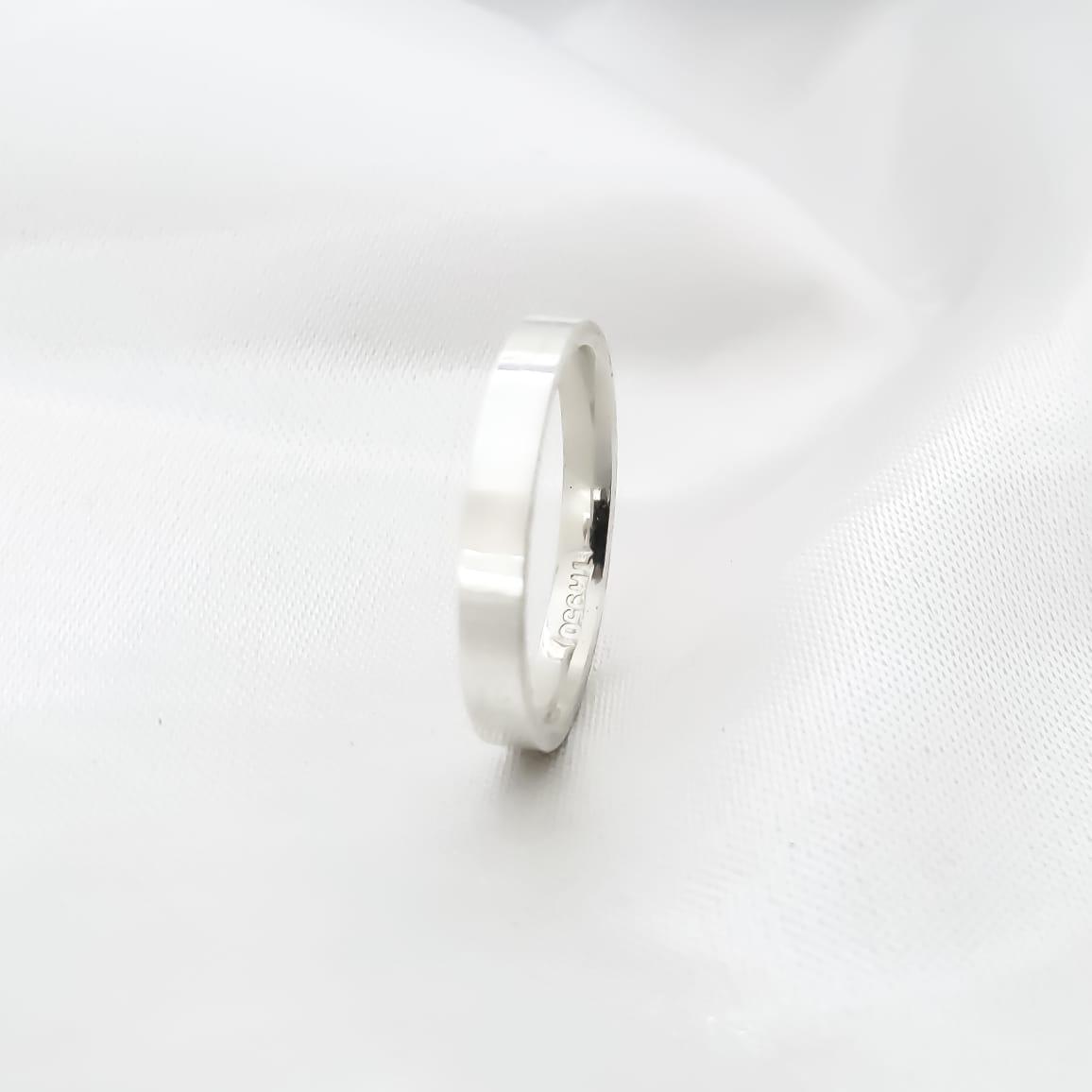 Aliança Pérola em Prata 1,5mm (Individual)
