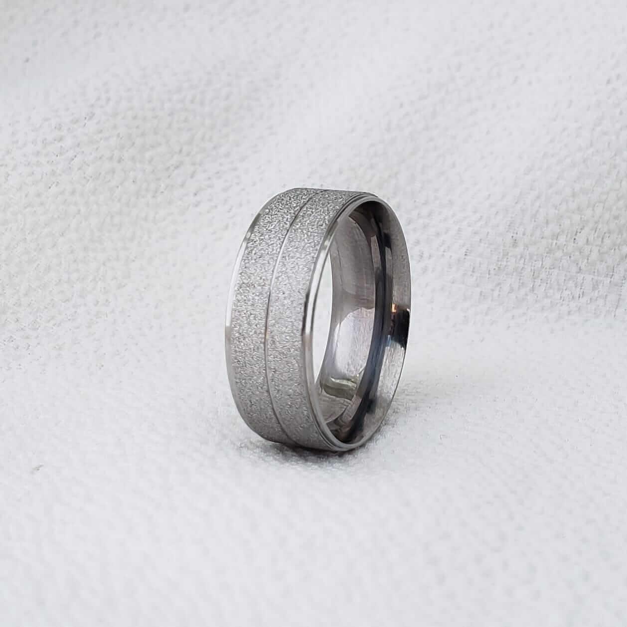 Alianças 1000 em Aço Inox 7mm (Masculina)