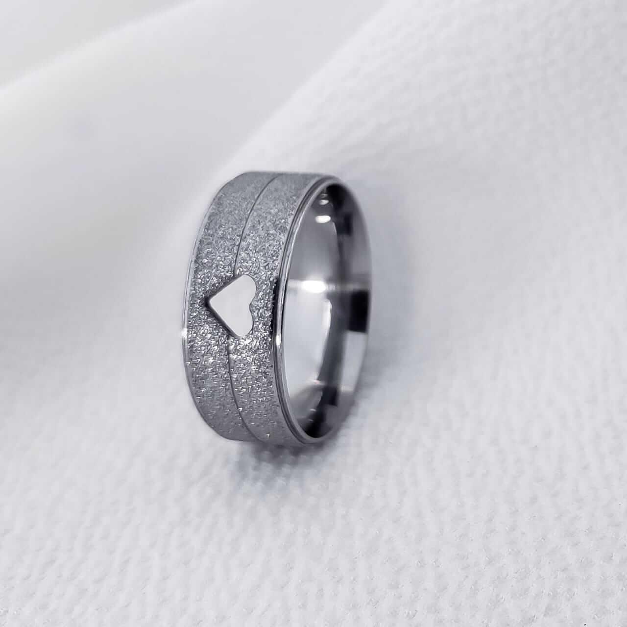 Alianças 1000C em Aço Inox 7mm (Feminina)