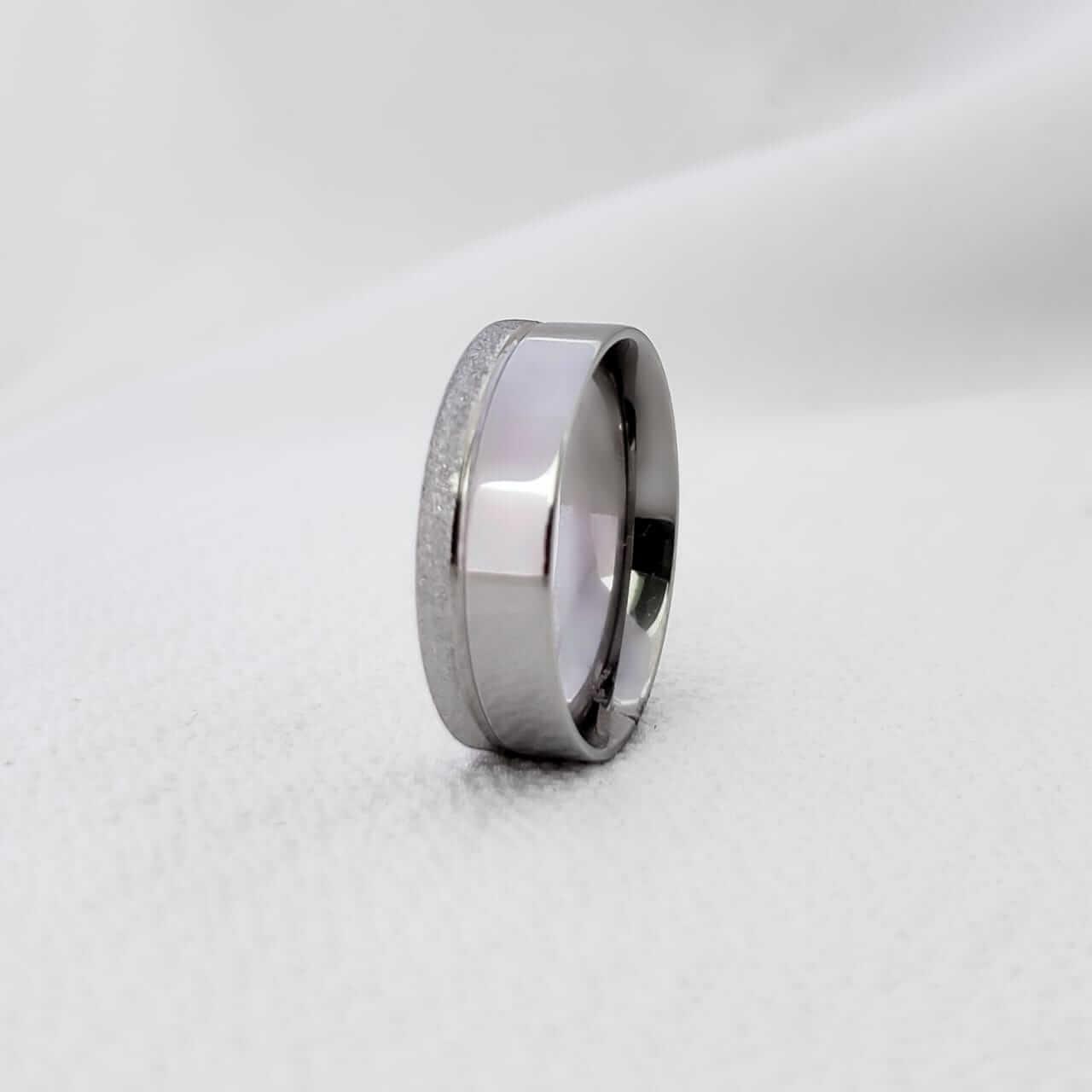 Alianças Alice 288 em Aço Inox 5mm (Masculina)