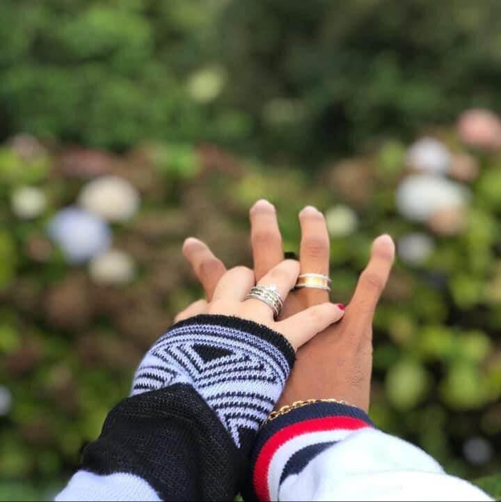 Alianças Bali em Aço Inox Banhadas 8mm (Par)