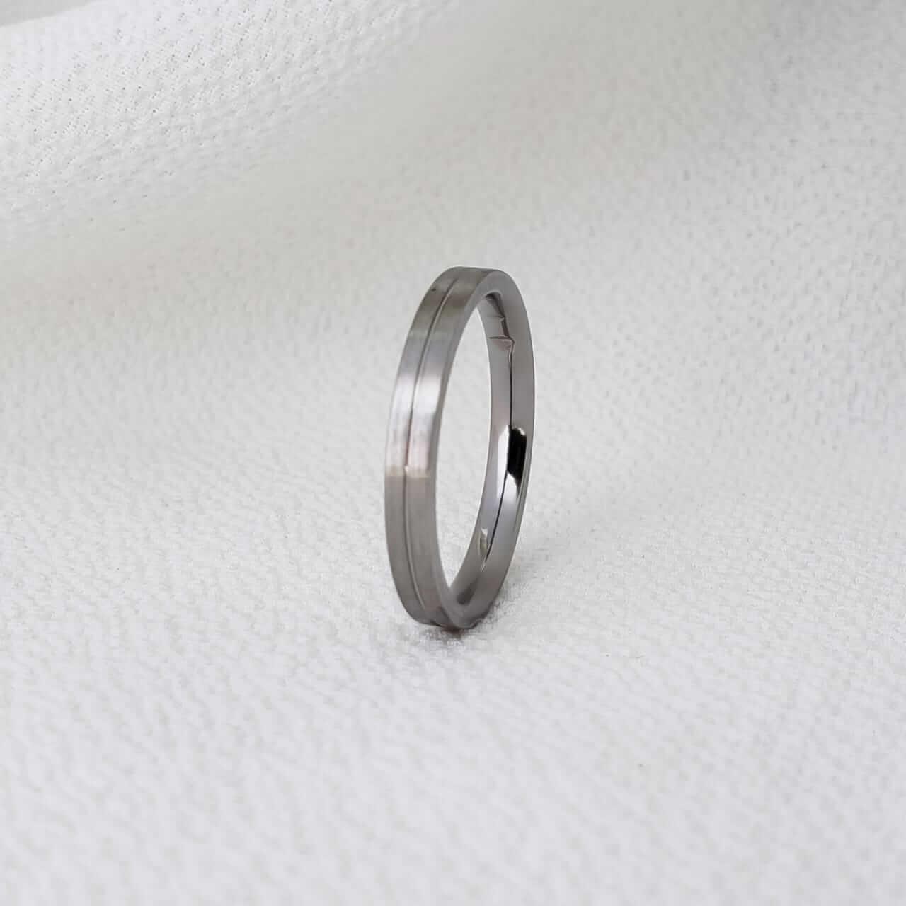 Alianças Gênova em Aço Inox 3mm (Masculina)