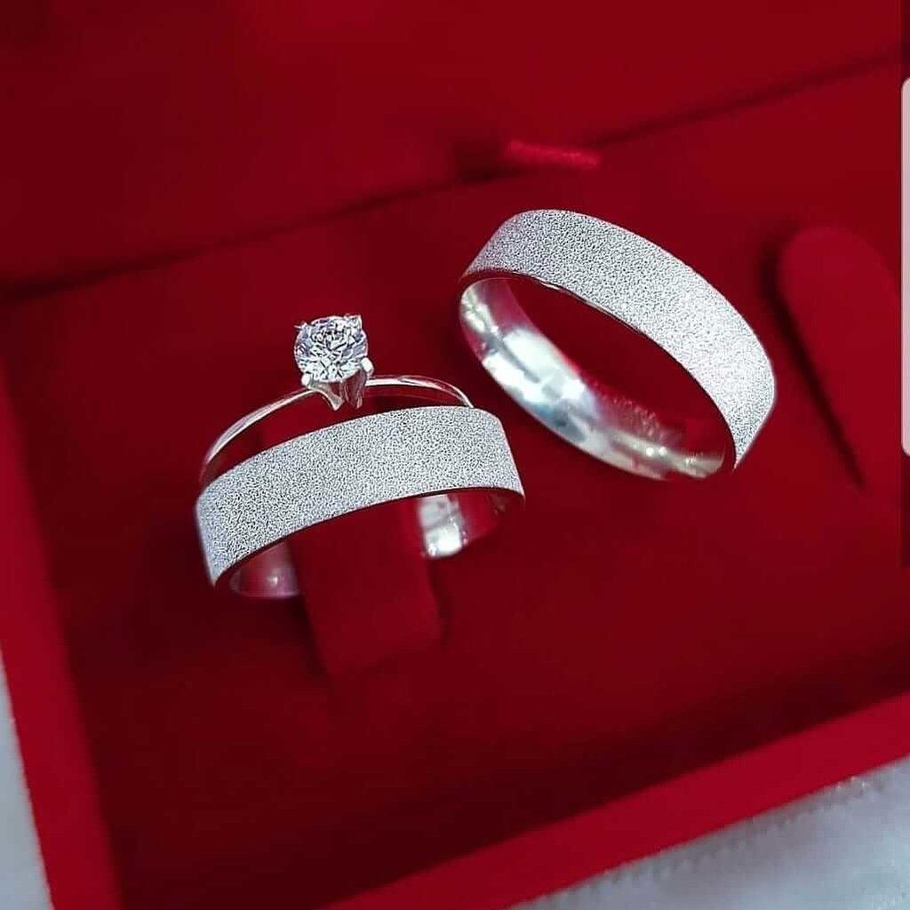 Alianças Glitter em Prata 5mm (Par)