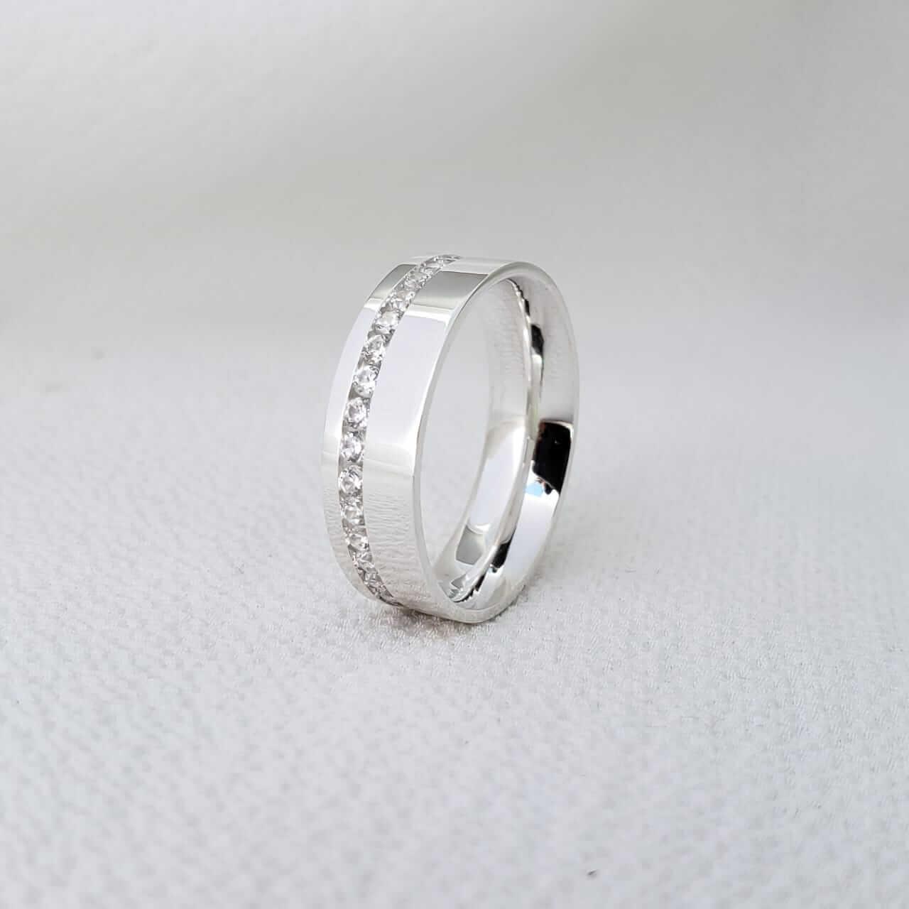 Aliança Malibu em Prata 5mm (Feminina)