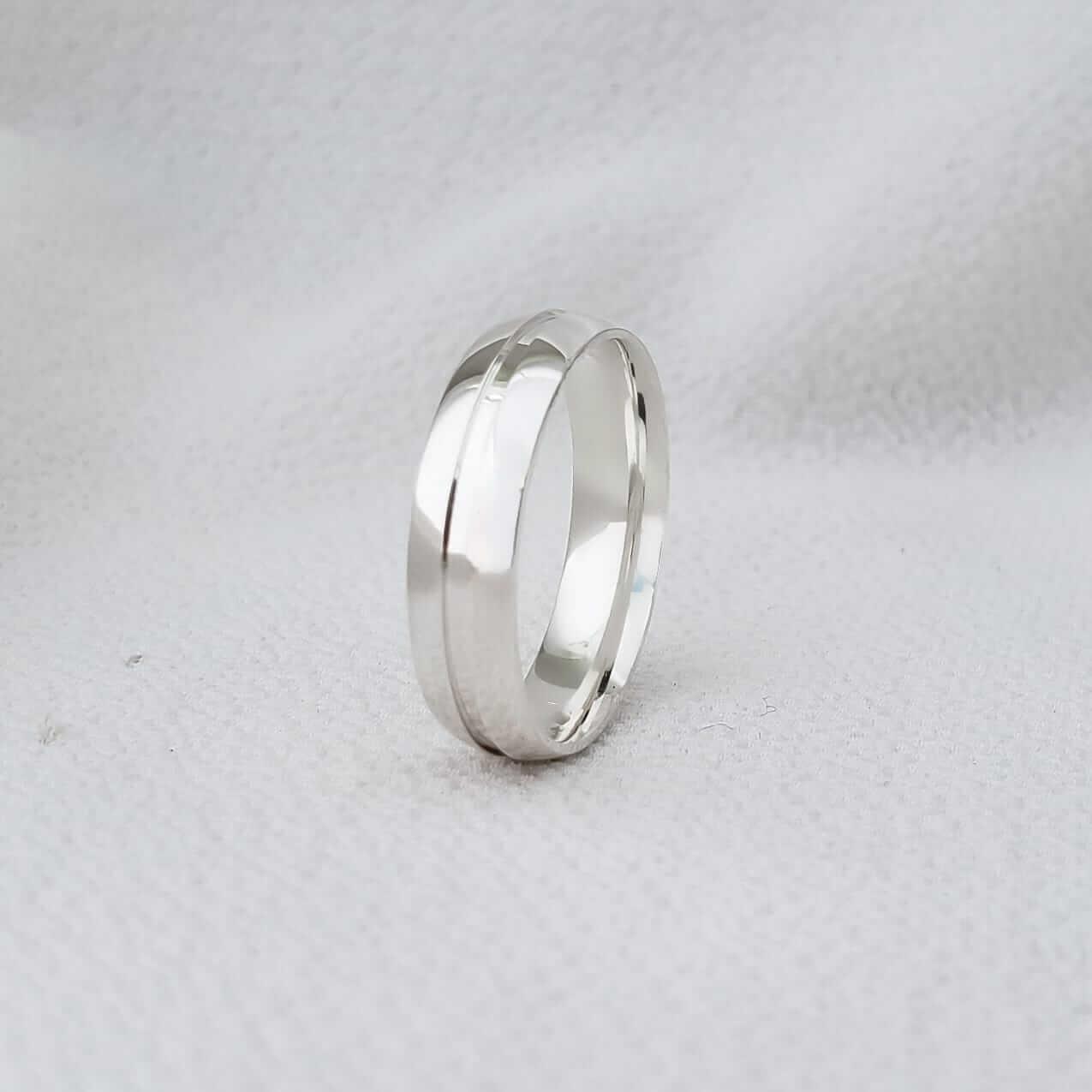 Alianças Milão em Prata 5mm (Masculina)