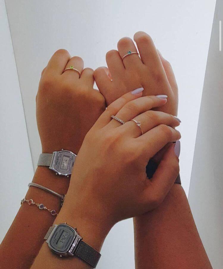 Anéis Meninas Super Poderosas em Prata
