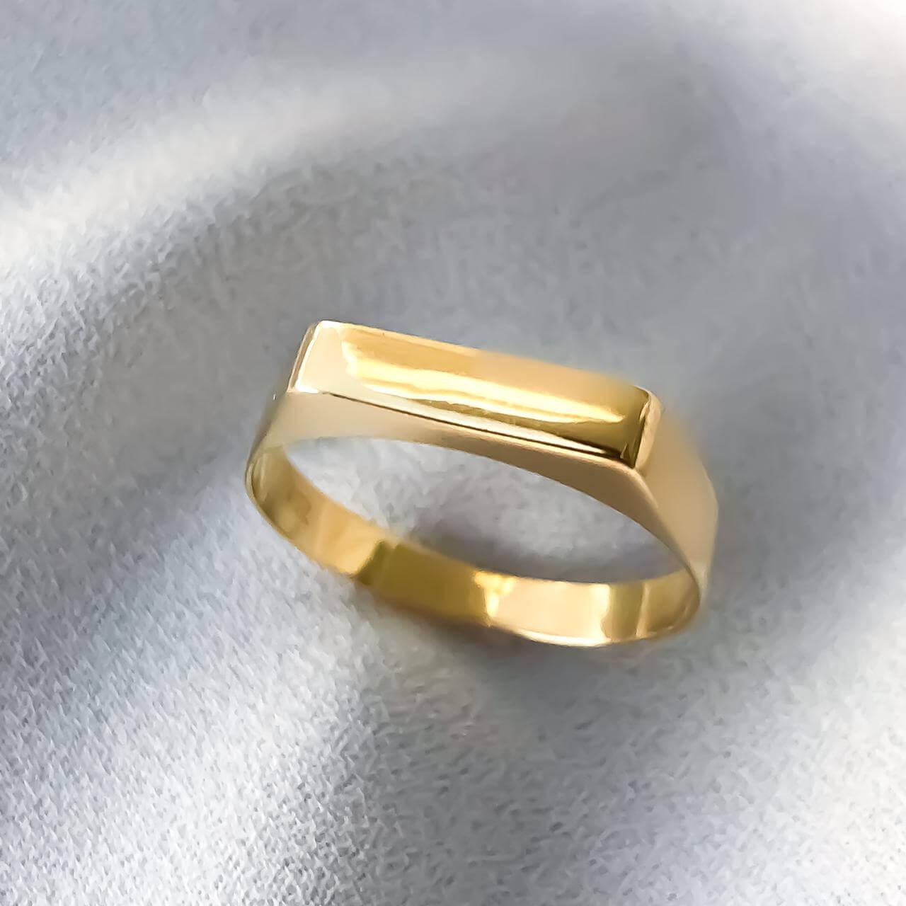 Anel Chapinha em Ouro 18K