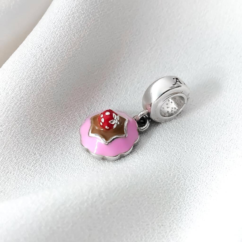 Berloque Cupcake em Prata 925