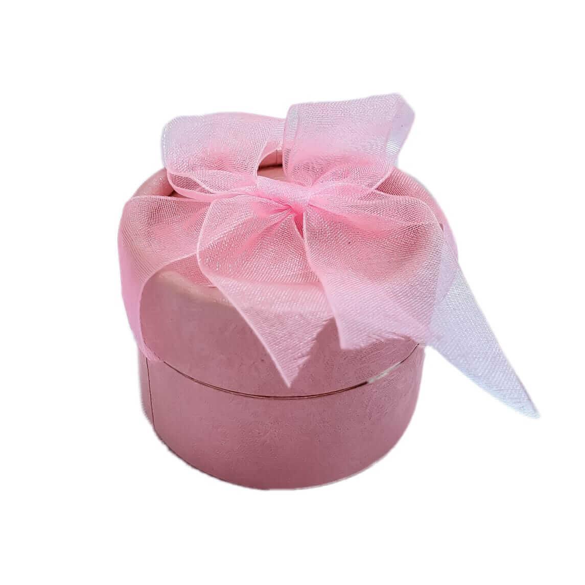 Caixinha em Papelão Cilíndrico Rosa