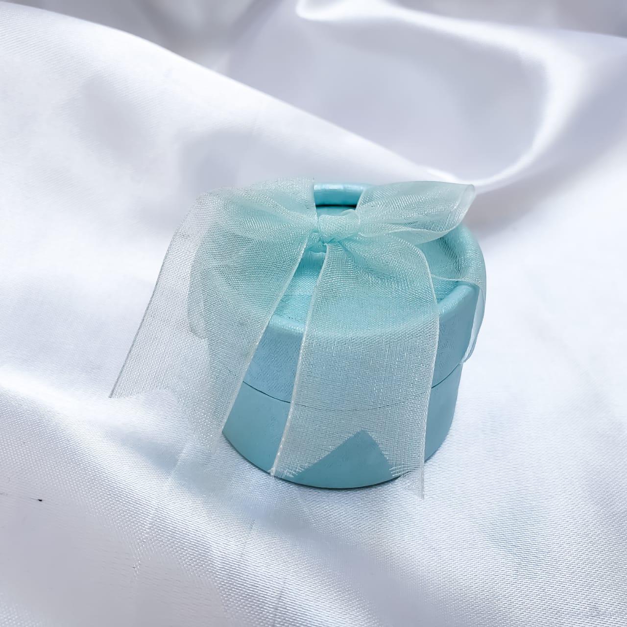 Caixinha em Papelão Cilíndrico Verde Água